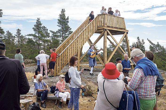 Invigning av telegraftornet Ornö